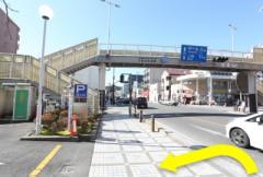 3.久里浜郵便局を通り過ぎると、すぐに駐車場入り口になります。