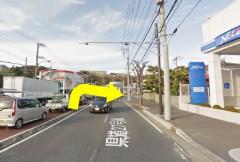 2.右折レーンに入り、佐原交差点を右折してください。交通量が多いので気を付けてください。