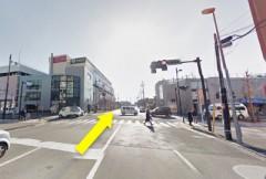 5.久里浜交差点を直進し、イオンを通り過ぎます。