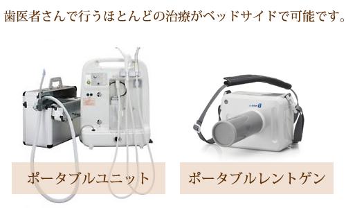 歯科用ポータブルユニットとレントゲン